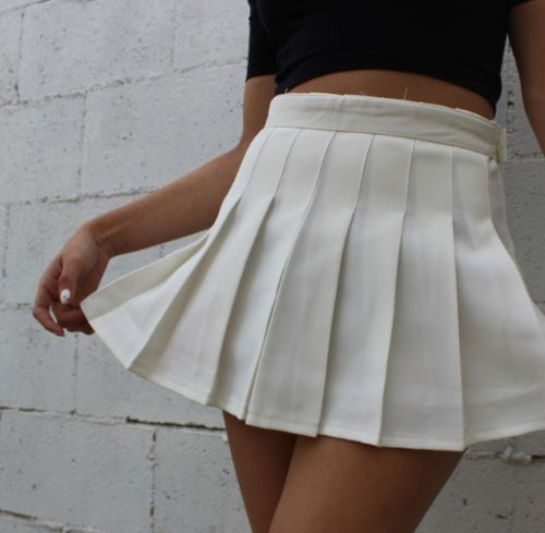 Daydream Pleated Tennis Skirt White Pleated Tennis Skirt White Tennis Skirt