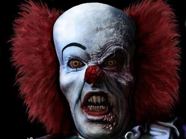 scary clown pics devil