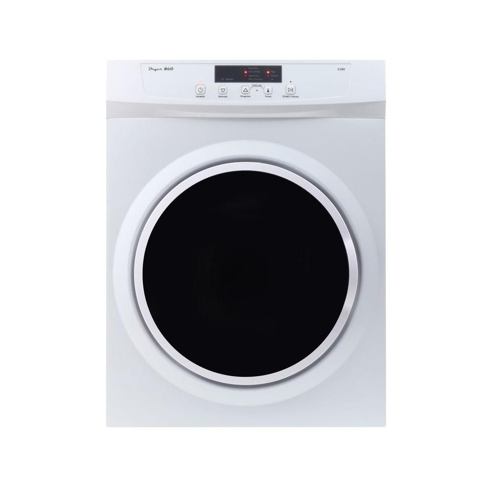Deco 3 5 Cu Ft Compact Standard Electric Dryer With Sensor Dry Refresh Function And Automatic Wrinkle Guard Dd 860 In 2020 Electric Dryers Stainless Steel Drum Washer Dryer Combo
