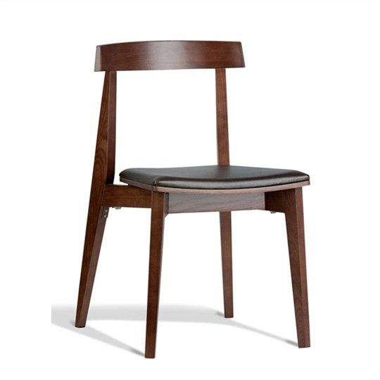 Izu commercial grade solid timber dining chair with pu - Commercial grade living room furniture ...