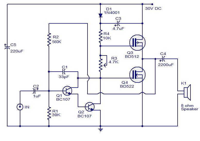 10 Watts Mosfet Audio Amplifier #ECE | Technológie | Pinterest ...