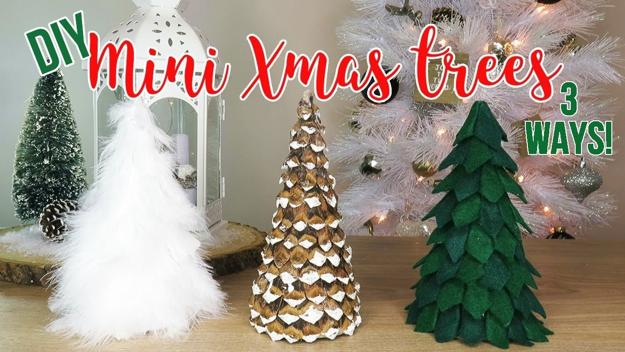 Diy Christmas Decor How To Make 3 Mini Tabletop Trees Affordable Youtube Diy Christmas Pictures Diy Christmas Tree Diy Christmas Videos