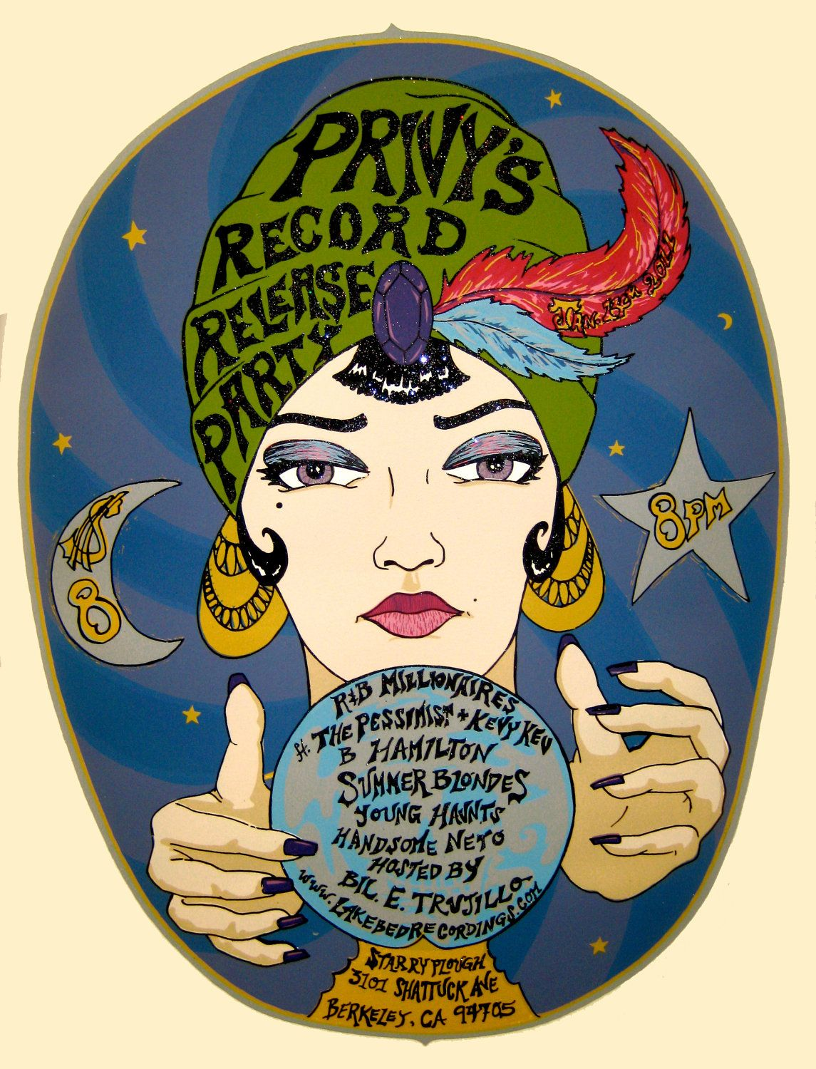 Gypsy Crystal Ball Psychic Pinup Retro Show Poster. $20.00