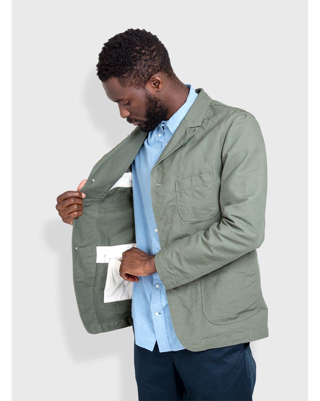 b8341e4dec3 Men s Blue Bedford Jacket Double Cloth Olive