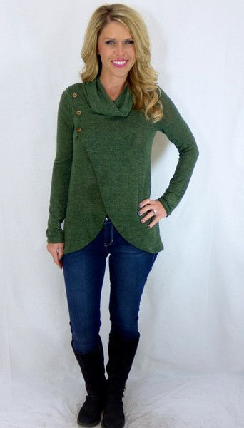 Buttoned Up Top: Green