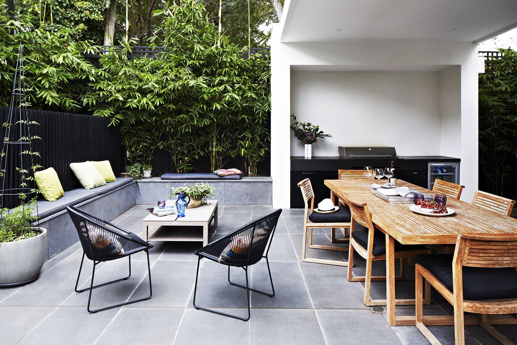 Contemporary home celebrates sunshine style and space mid century
