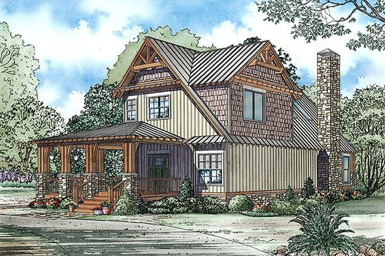 Plan #17-2434 - Houseplans Exterior house finishes/design in