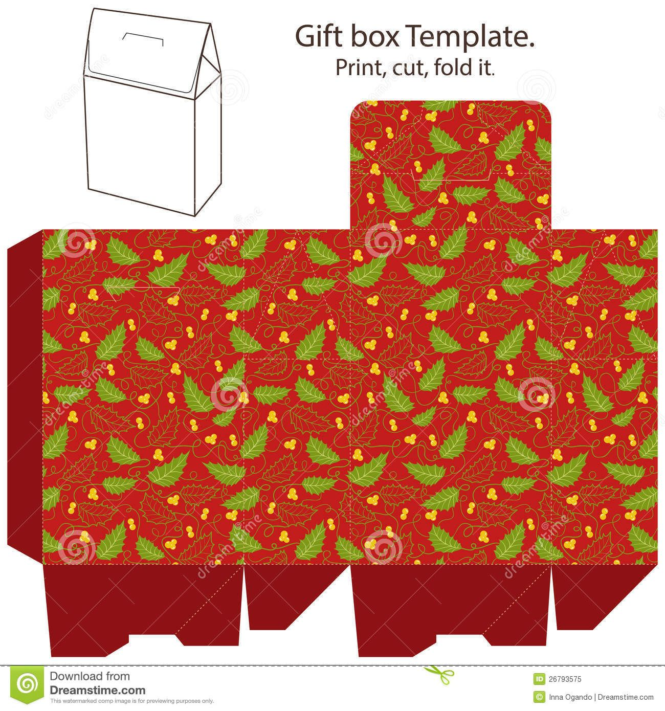 Gift box template stock vector. Image of package, packaging ...