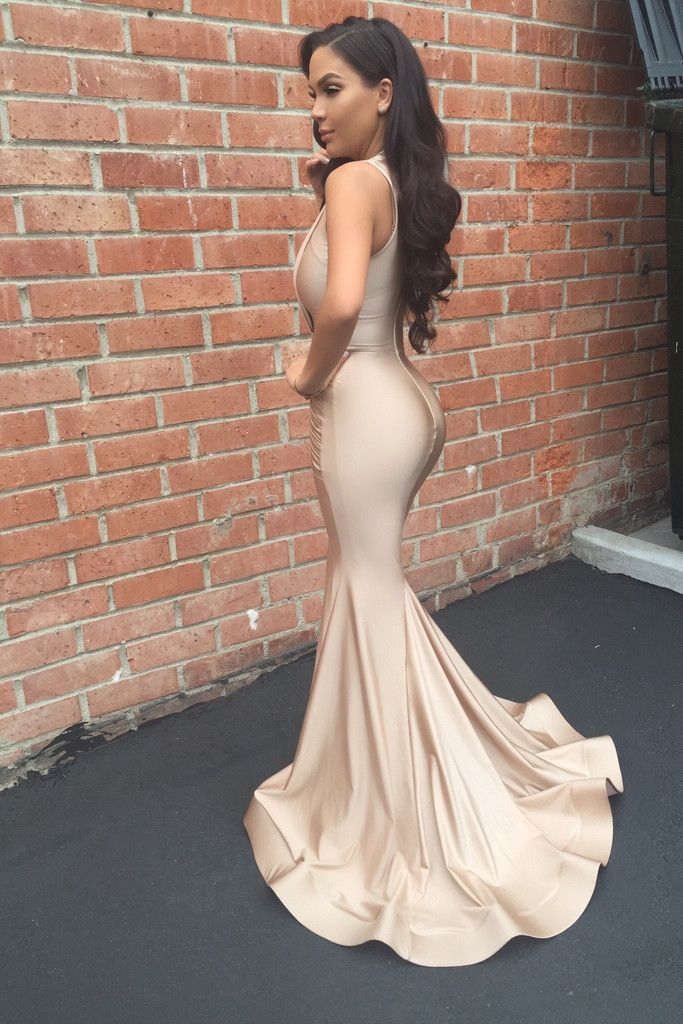 b9cc8154b316 Nude and Blush Sexy Dresses in 2019 | Gorgeous Gowns | Mermaid prom ...
