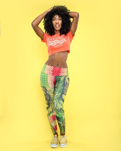 Her life is her art. Seen Model: Mana MUA: Glam_Squad_ Photography: Joe Wesley Cooyah Leggings and Seen crop top available earthwide at Cooyah.com #reggae #dancehall #dance