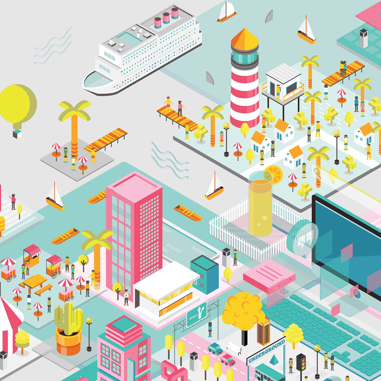 "Consulta este proyecto @Behance: ""The City of Colors"" https://www.behance.net/gallery/36195079/The-City-of-Colors"