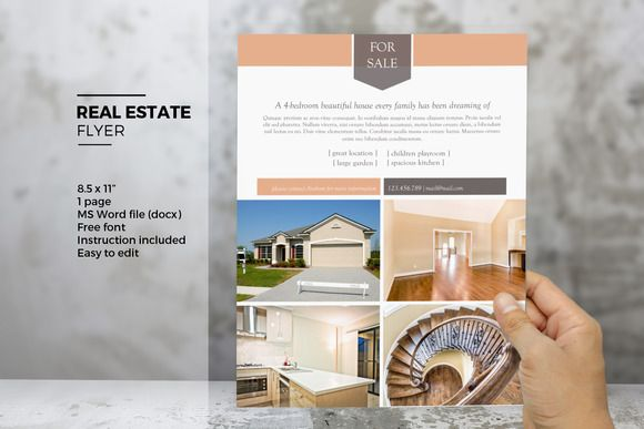 word real estate flyer template