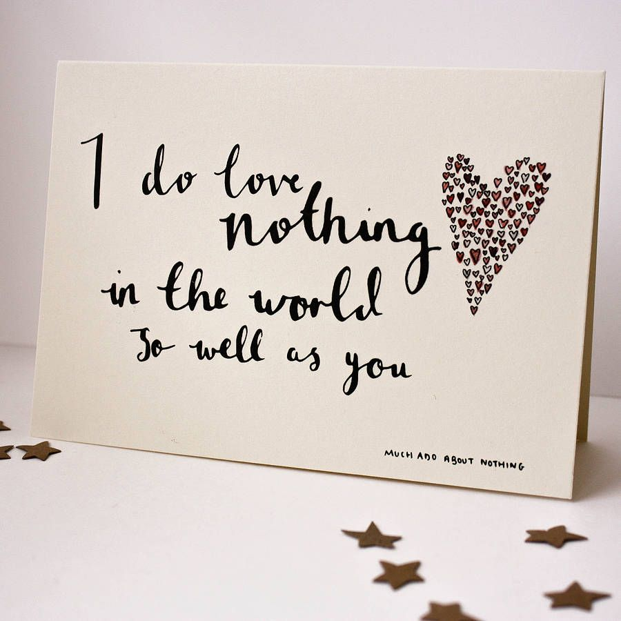 Shakespeare Quote Valentine S Day Card By Rebecca Mcmillan Ilration Notonthehighstreet