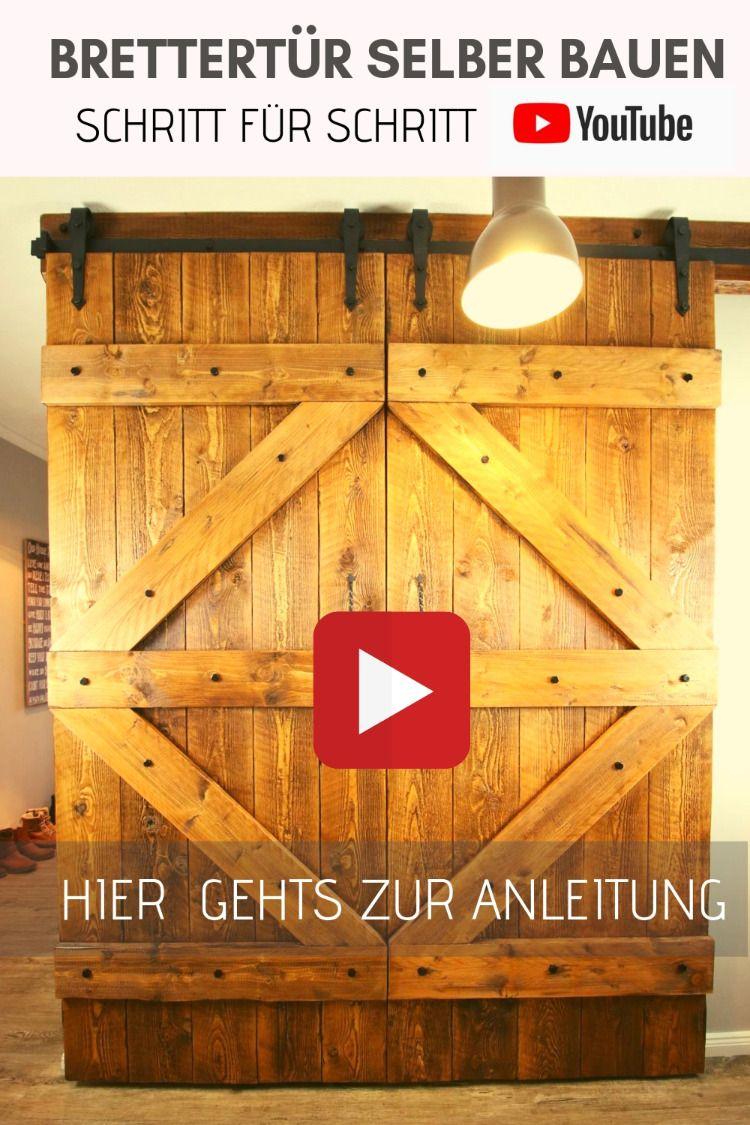Photo of Rustic sliding wood door. DIY. Build a wooden door. Build the sliding door yourself. Sliding door. Country house door.