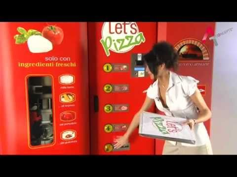 A1 concepts Let's Pizza: A Pizza Vending machine rolls out a pizza in 3 min