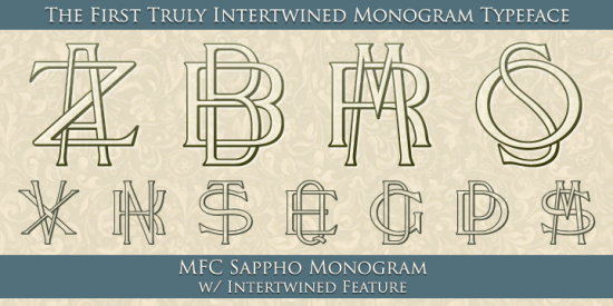 Monogram generator so useful for DIY cards, invitations