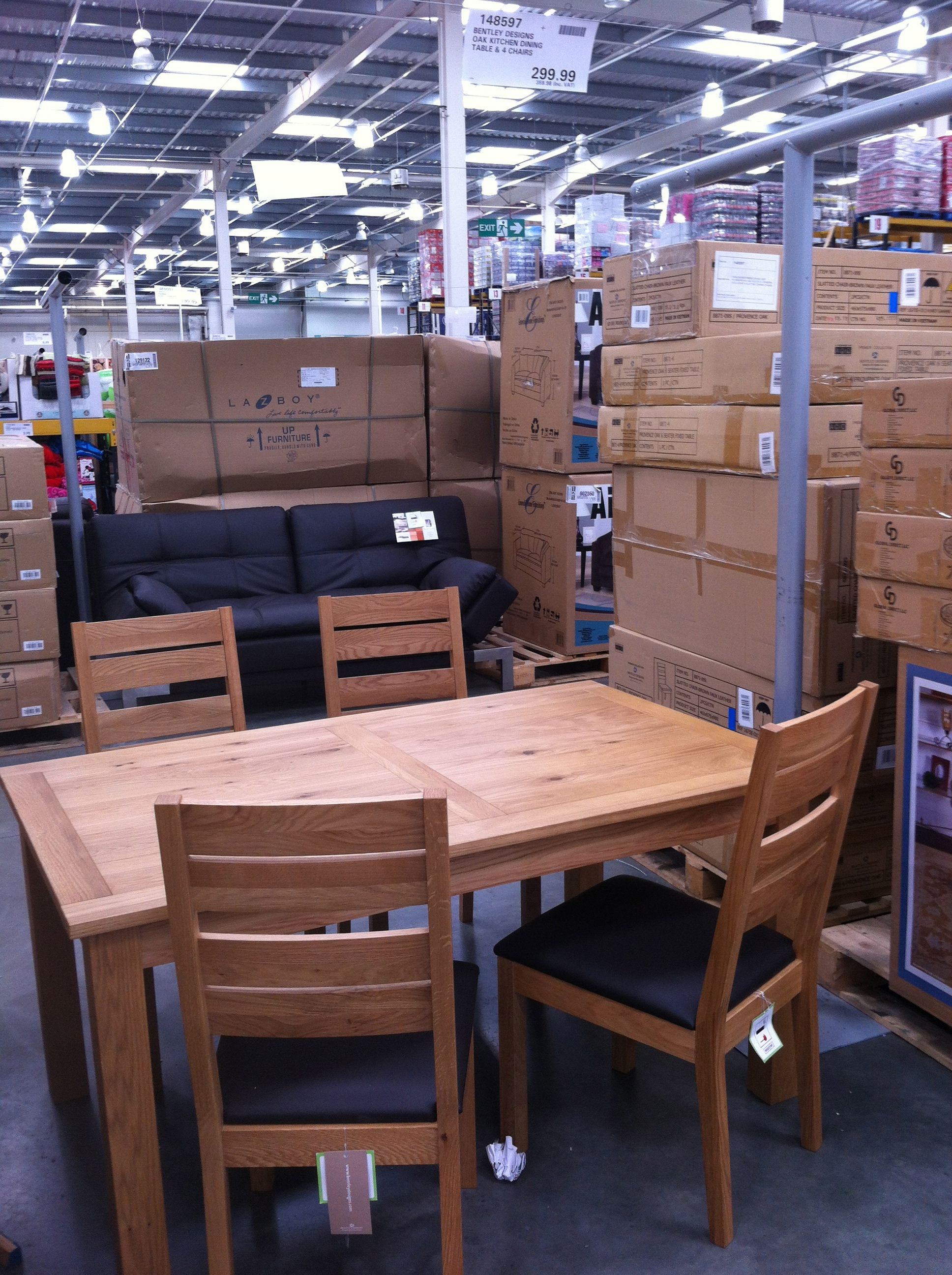 Dining Set Bentley Designs Oak Kitchen Table 4 Chairs Costco Warehouse 35898