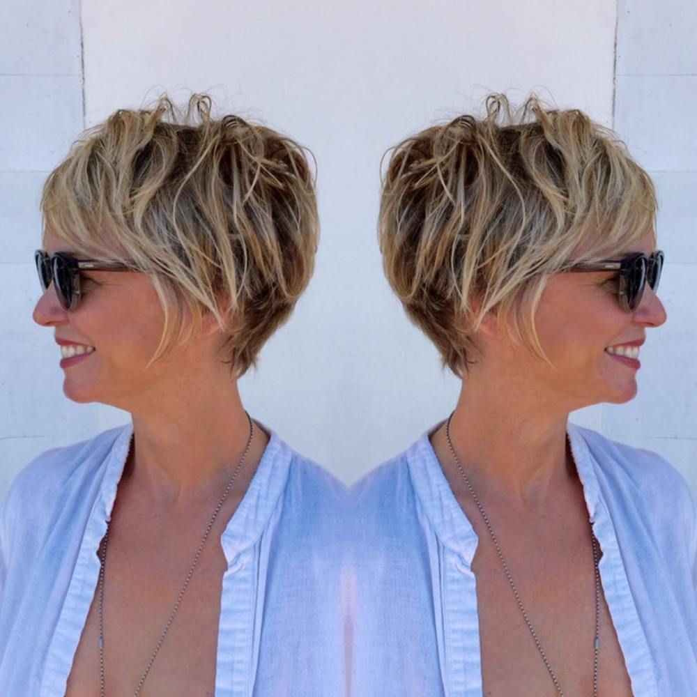 classy and simple short hairstyles for women over pixie bob