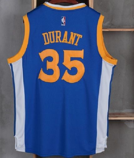 b5849fab523 Kevin Durant Jersey Golden State Warriors 35 Blue Sewn Swingman Basketball  New - Basketball-NBA