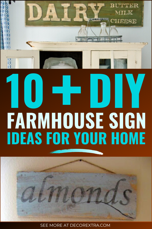 DIY Farmhouse Signs You Can Do It Yourself #diyhomedecor #farmhouse #farmhousestyle #farmhousesign