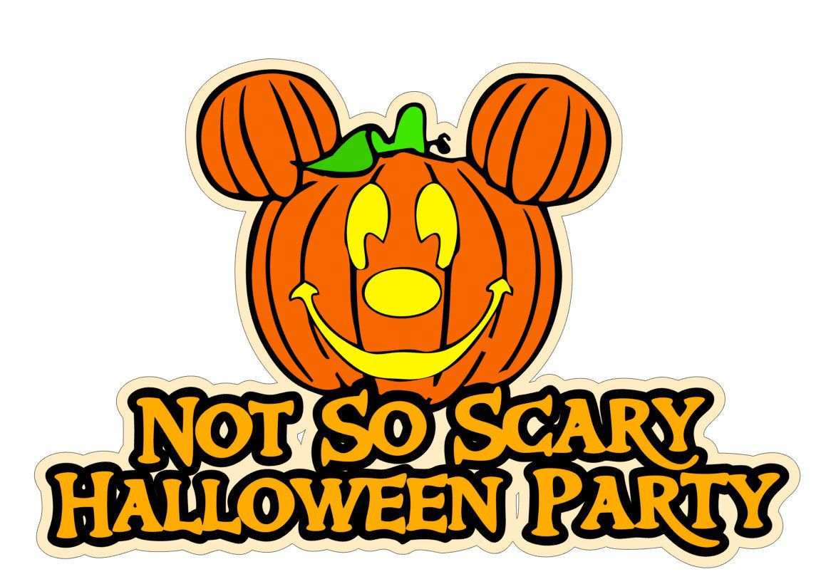 SVG Digital Download Not So Scary Halloween Party Mickey