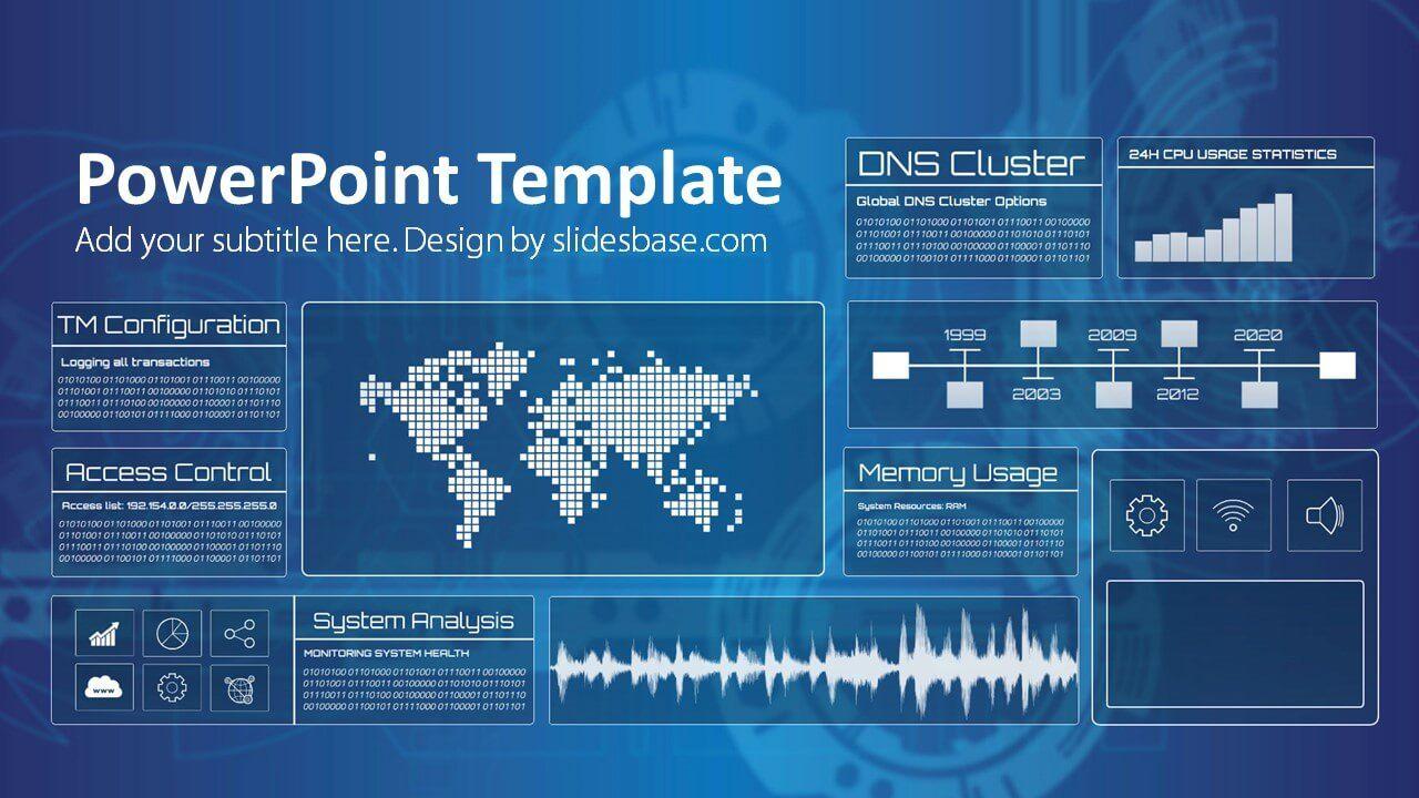 Technology Screen Powerpoint Template Pertaining To Powerpoint Templates For Technology Present In 2020 Prezi Templates Powerpoint Templates Powerpoint Poster Template