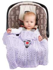 Infant Knitted Car Seat Covers from AnniesCatalog.com -- These knit ...