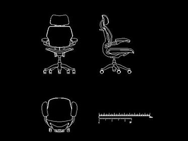 Silla ejecutiva de oficina en autocad proyectos que for Mobiliario oficina dwg