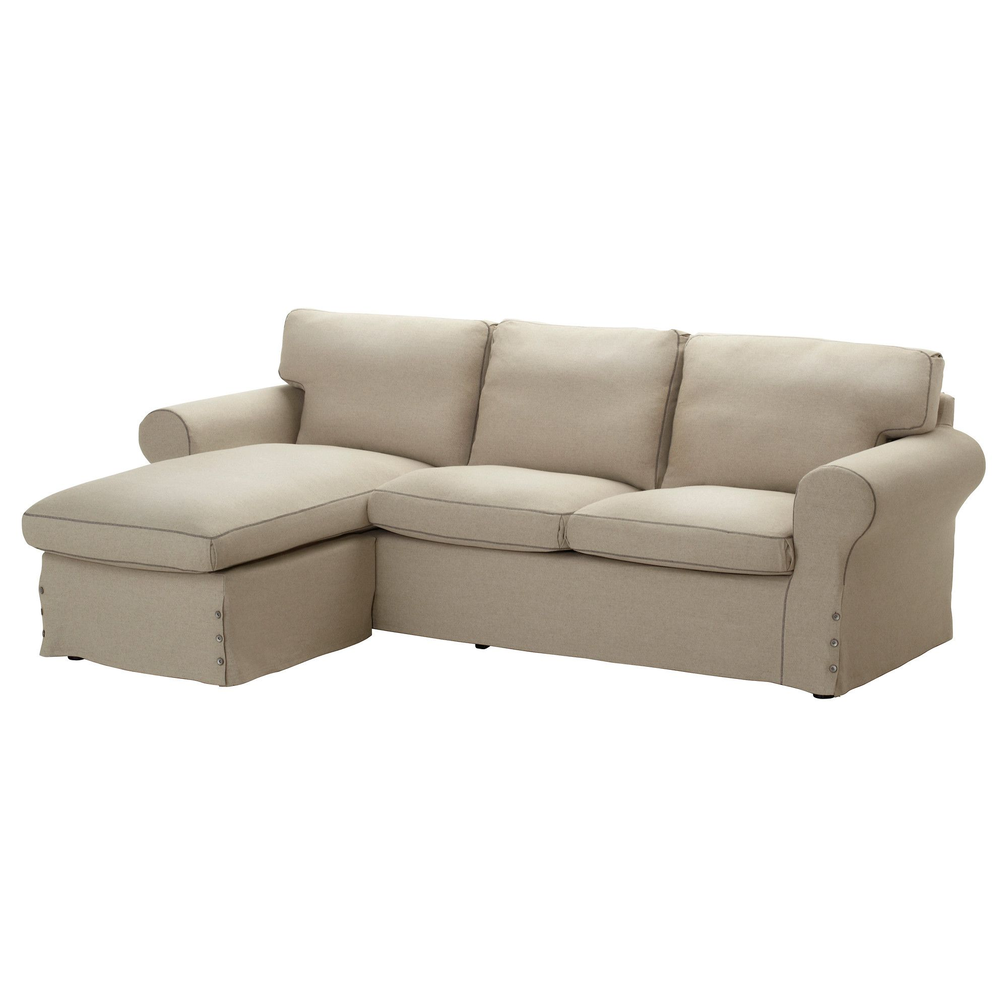 EKTORP Loveseat and chaise lounge Risane natural IKEA
