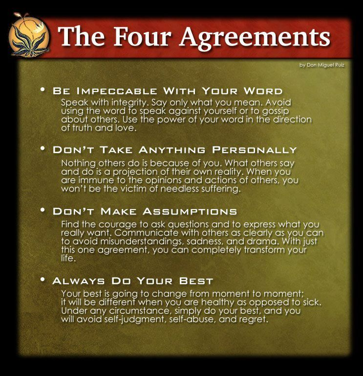 the four agreements Motiinspiblahwords! Pinterest - agreement in word
