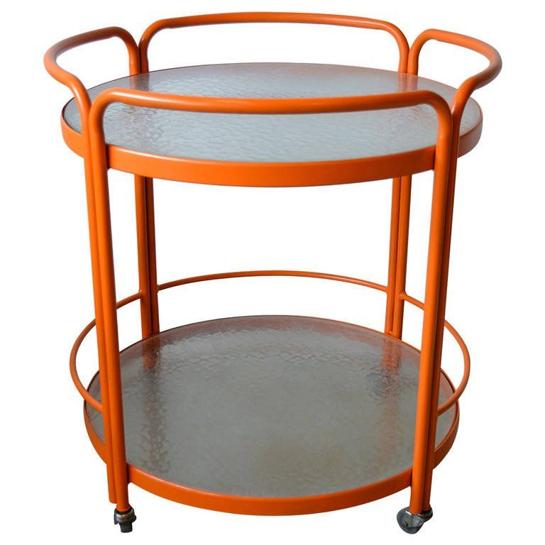 Large Mid Century Modern Aluminum And Gl Outdoor Bar Cart Or Server 1stdibs Furniture Pinterest Serving