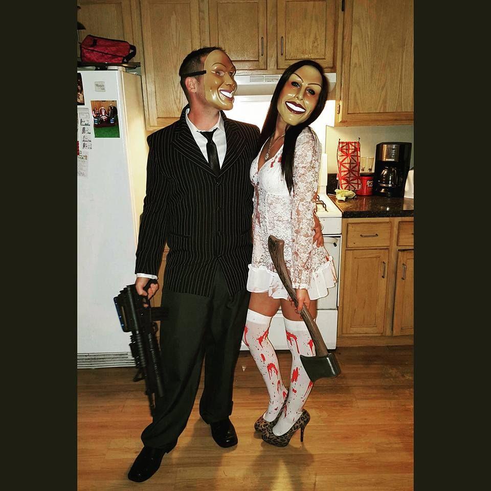 The purge halloween costume thepurge halloweencostume halloween happy fall yall pinterest - Maquillage halloween couple ...