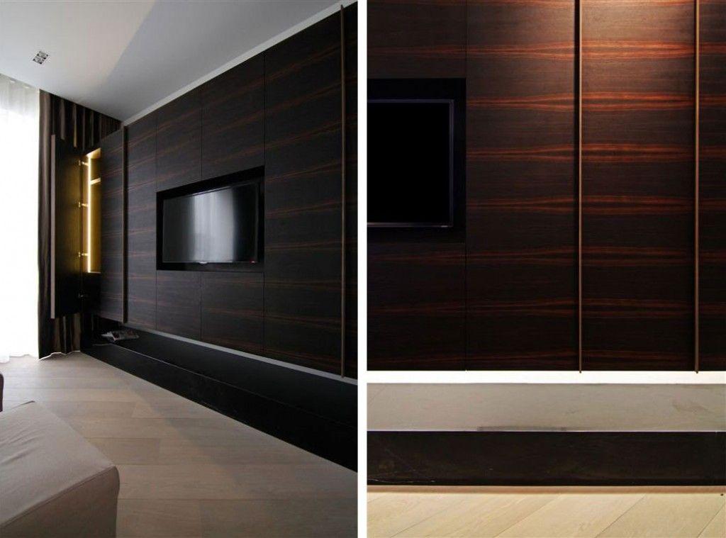 33 moderne tv wandpaneel designs und modelle pinterest tv wandpaneel dunkles holz und. Black Bedroom Furniture Sets. Home Design Ideas