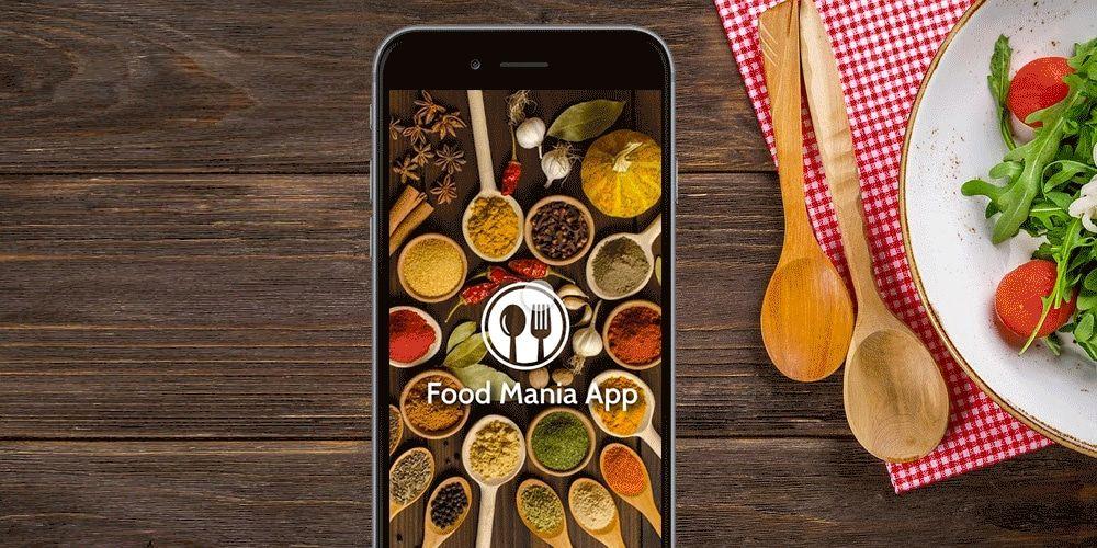 Food Mania App in Adobe Xd   آموزش ایلوستریتور حرفه ای