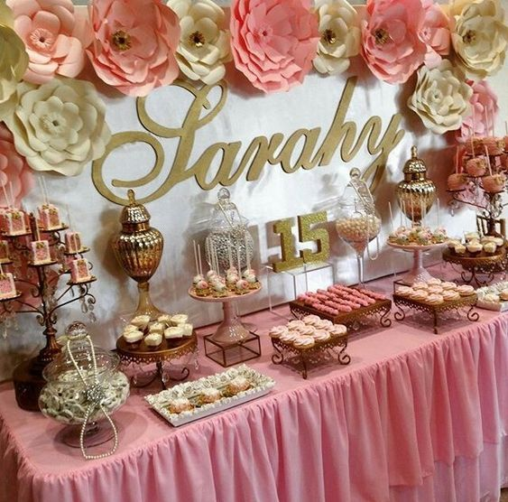 décoration de table d'anniversaire Rose Gold Wedding en