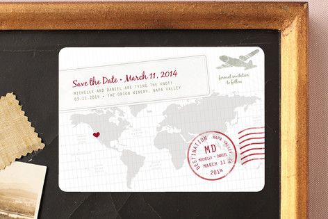 A Faraway Destination Save The Date Magnets By Ble Ink At Minted