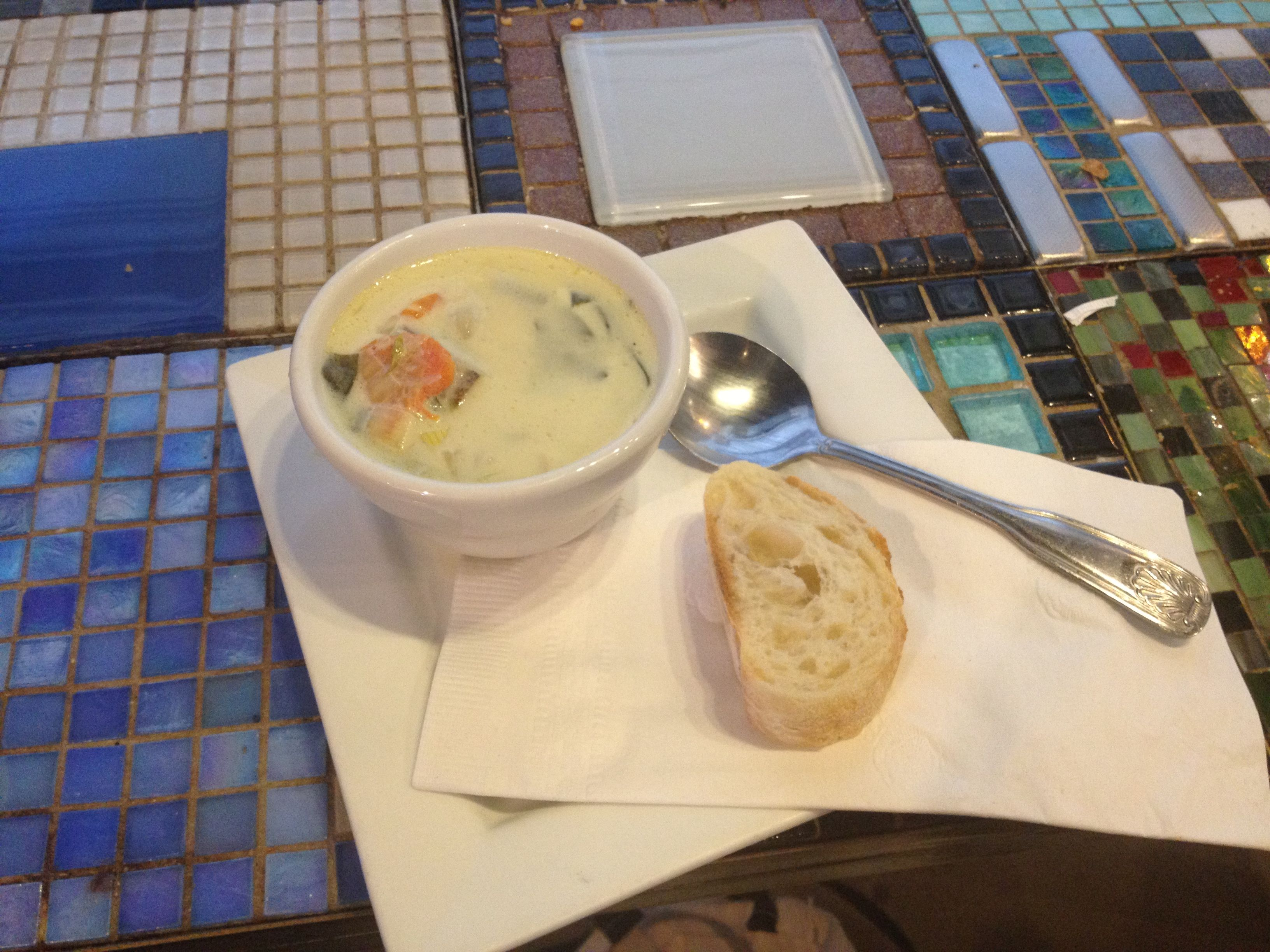 Delicious Spinach Asparagus Soup At Amelieu0027s French Bakery In Charlotte, NC!