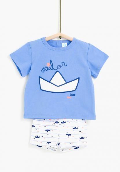 9b016453e Conjunto camiseta y bañador TEX Playa Bebe