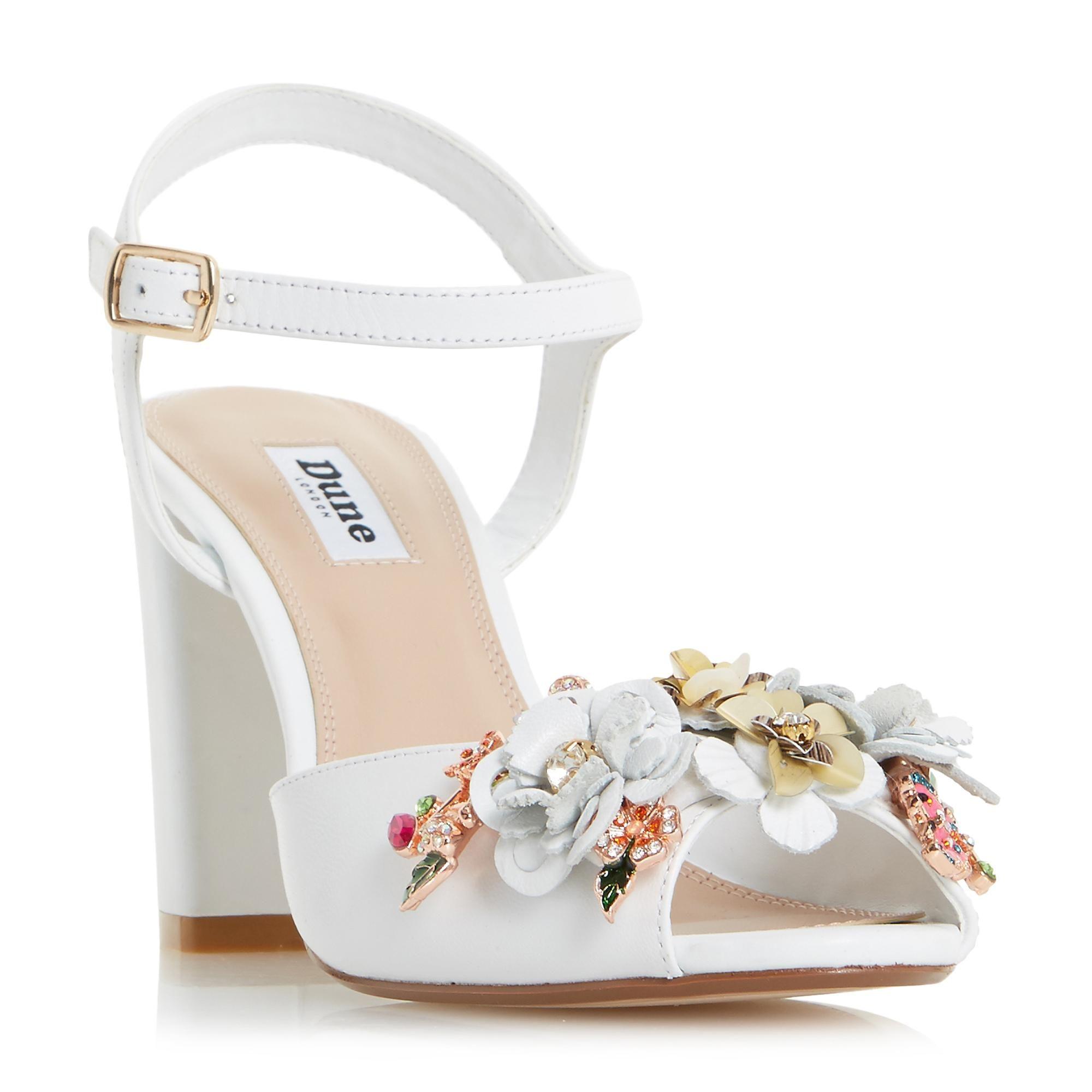 Flower Garden Block Heel Sandal
