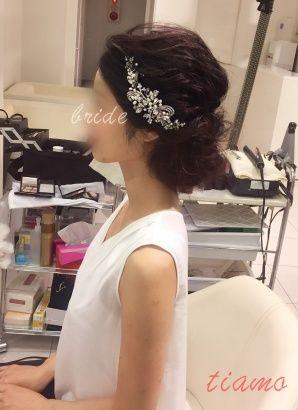 黒髪美人な花嫁さまの柔らかアレンジ3スタイル リハ篇 黒髪美人