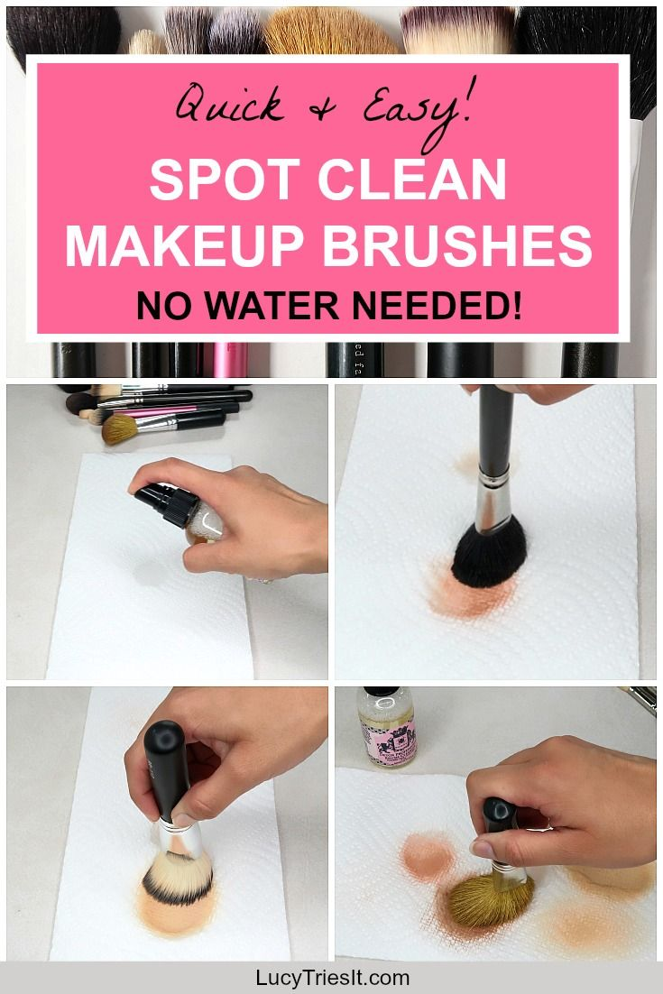 Quick & Easy Way To Spot Clean Makeup Brushes - No Water ...