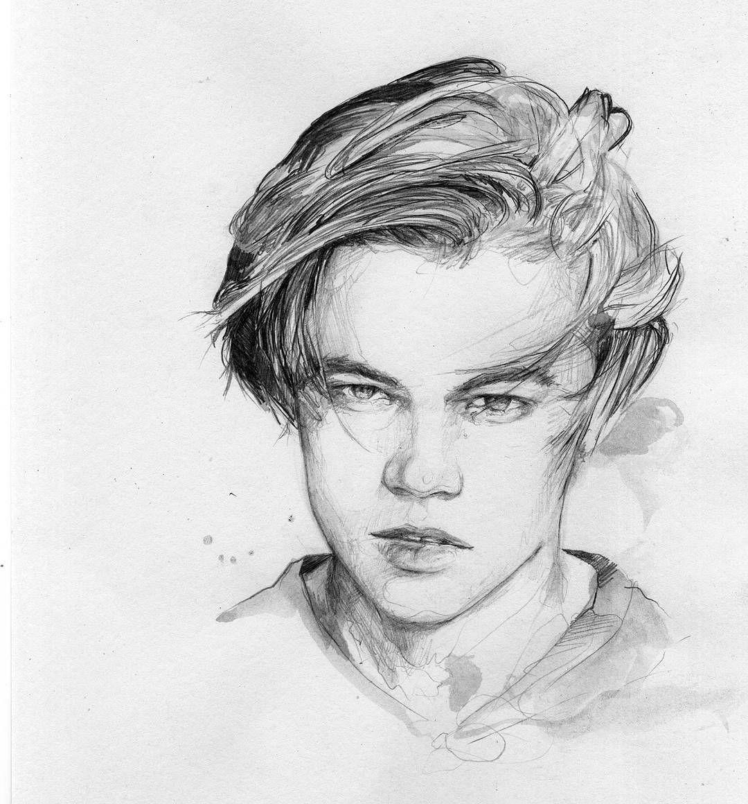 """Someone would think he won an  Oscar! Oh wait. #leo #leonardodicaprio #oscar #wip #drawing #instaart #sketchbook #ink #instadrawing #illustration"""