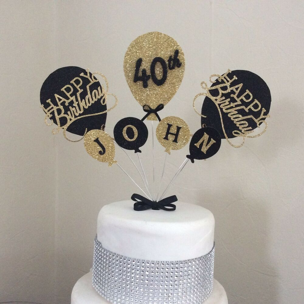 Details about cake topper personalised balloon birthday