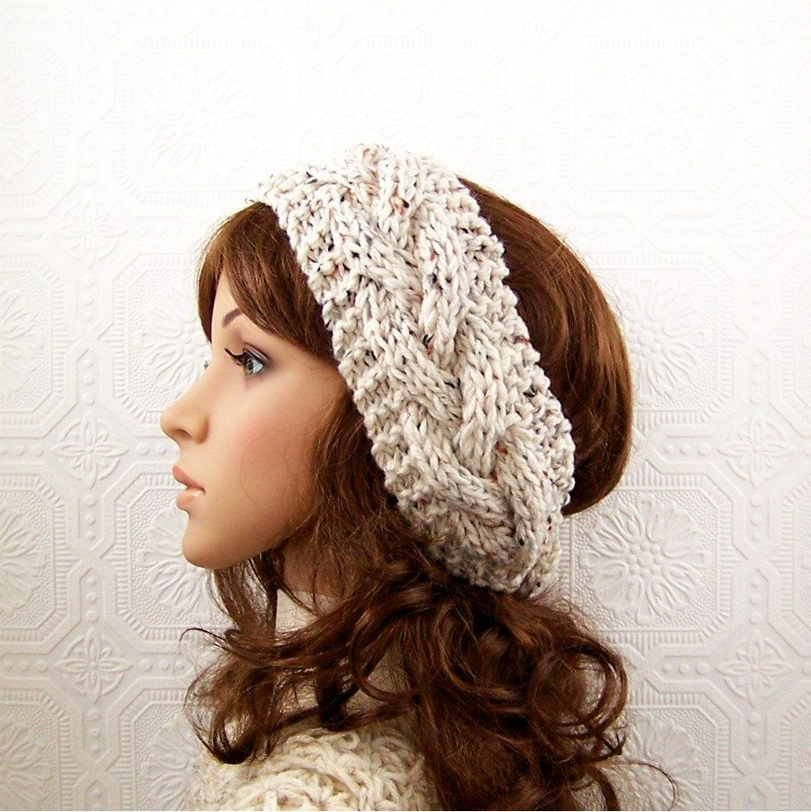 Hand knit headband headwrap ear warmer by SandyCoastalDesigns ...