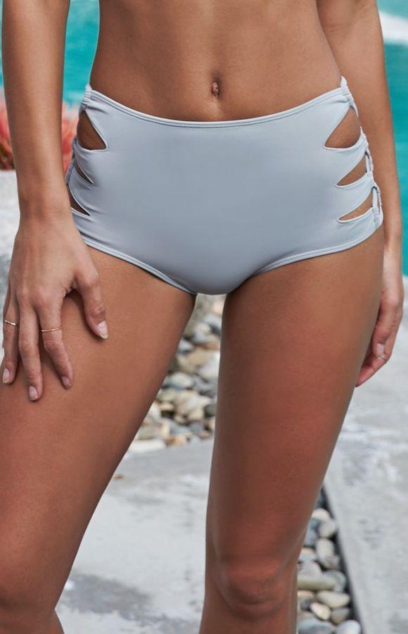 Kendall   Kylie Loop Side High Waisted Bikini Bottom  6eb2e52b7a6a