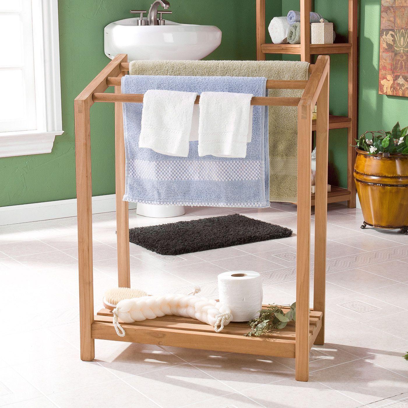 Freestanding Towel Rack Rak Handuk Rak Handuk