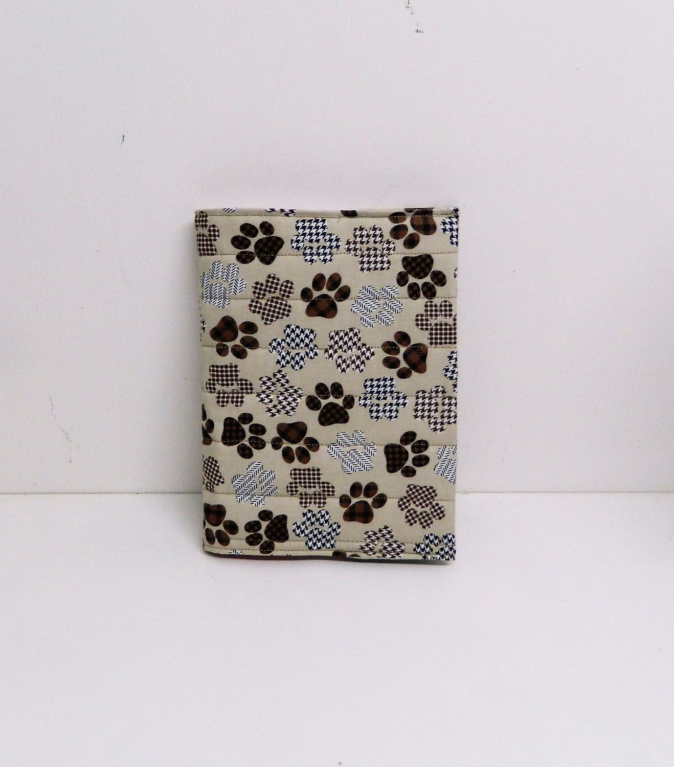 a5 notebook cover pawprint fabric journal cover diary cover a5
