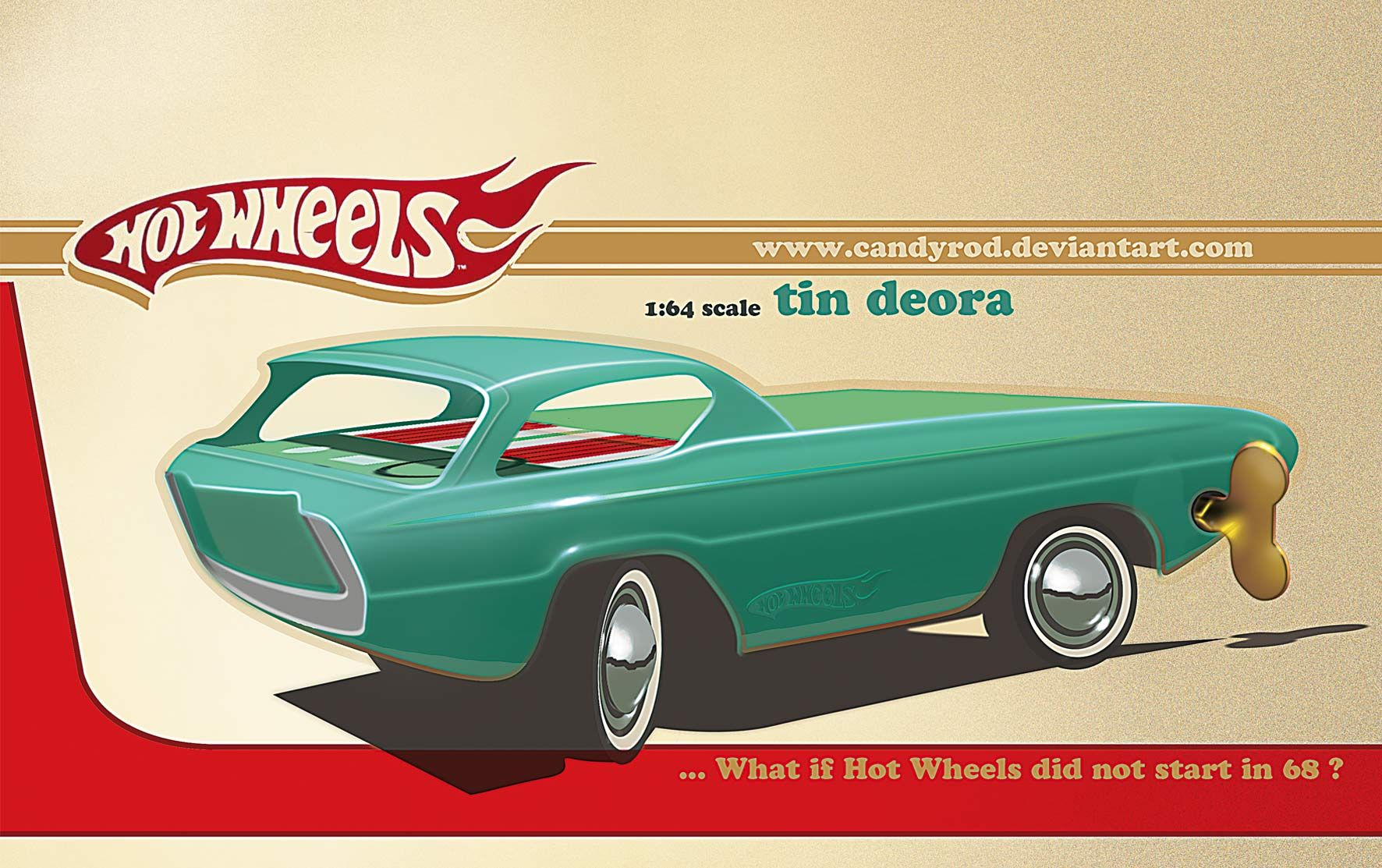 Hot toys car  Hot Wheels Deora Part of a design serie to bring back the tinplate