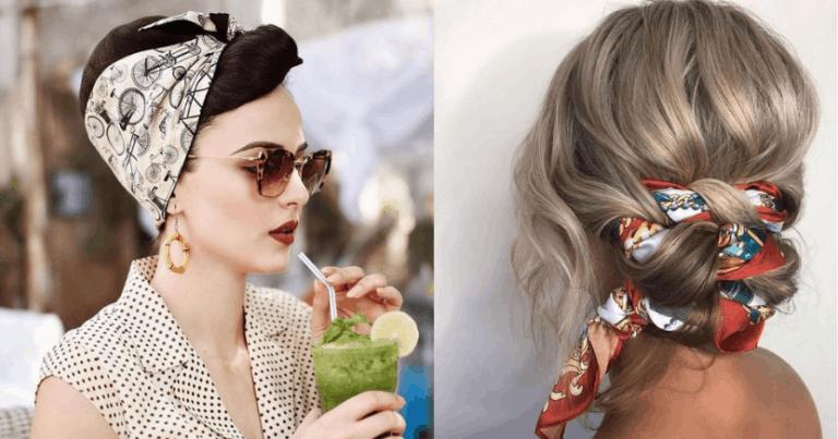 De última generación peinados con pañuelo Fotos de estilo de color de pelo - Peinados con pañuelo que te harán lucir hermosa - Magazine ...