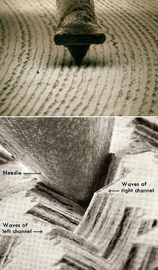 Twitter / MicroscopePics: Vinyl & needle  Magnified 1000x | Micro